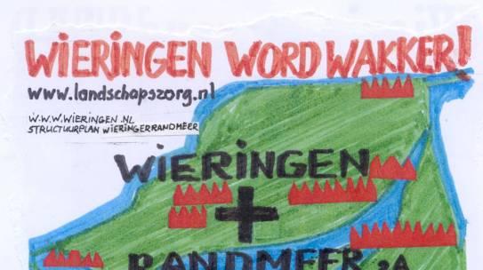 Poster om voor het raam te hangen